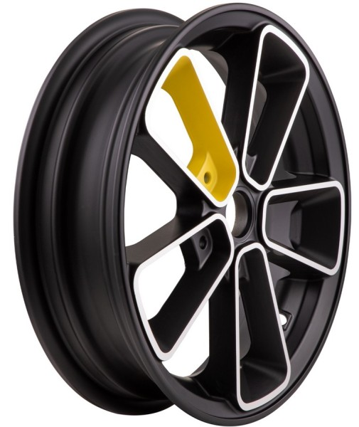 """Felge vorne/hinten 12"""" für Vespa GTS/GTS Super/GTV/GT 60/GT/GT L 125-300ccm, schwarz/gelb"""