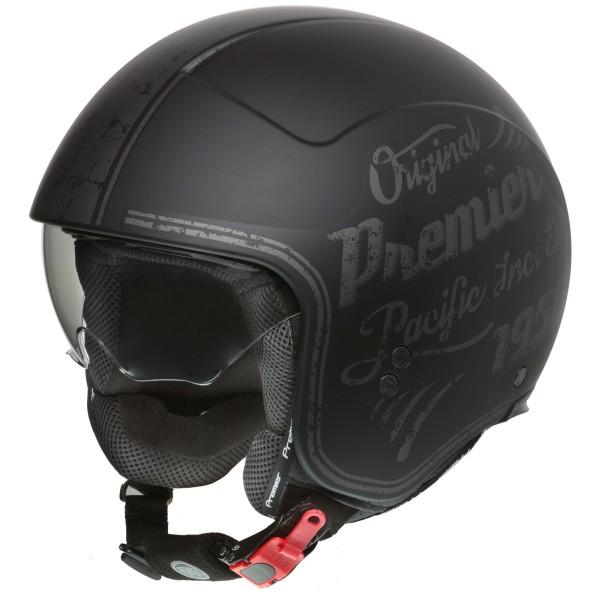 Premier Rocker Helm matt-schwarz/grau