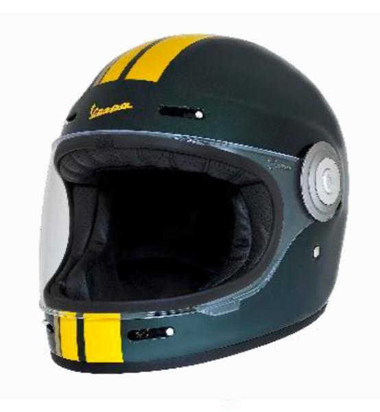 Vespa Integralhelm Racing Sixties 60s grün / gelb