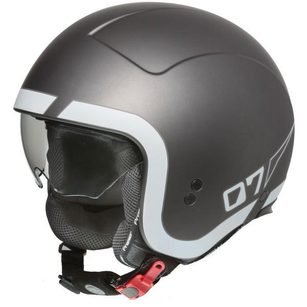 Premier Rocker Helm matt-gun/weiß