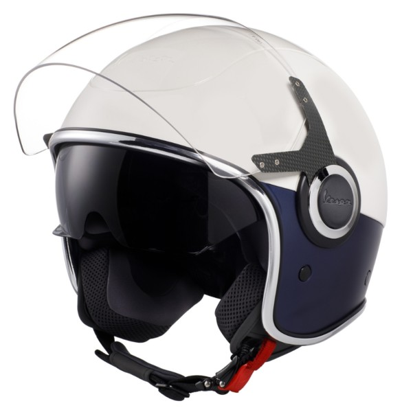 Vespa VJ Helm weiß / blau