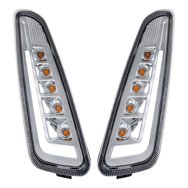 Blinker Kit vorne links / rechts LED klar für Vespa Primavera / Sprint 125-150ccm SIP Style