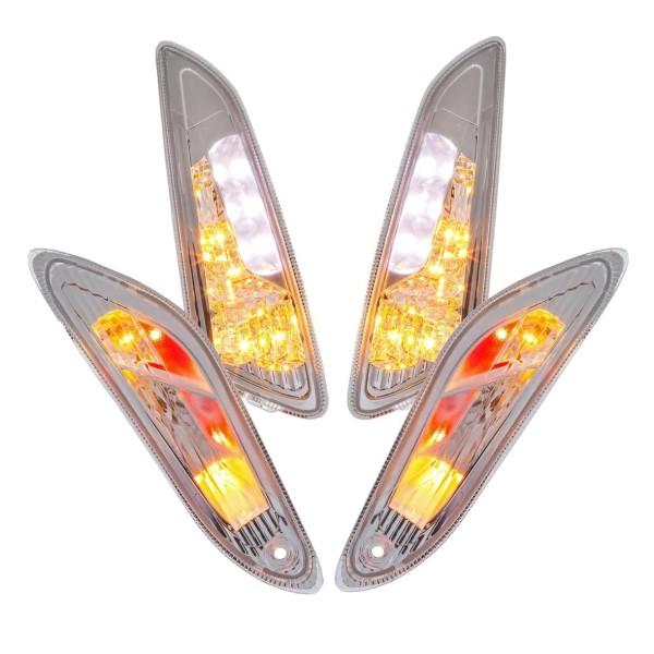 Blinker-Set LED klar für Vespa Primavera/Sprint 50ccm 2T/4T