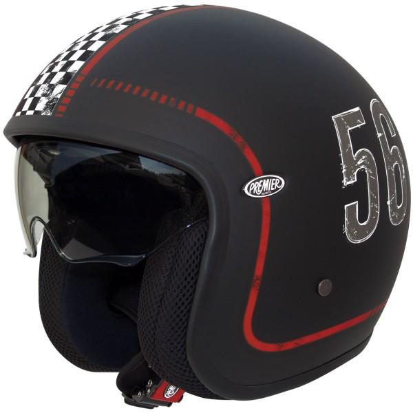 Premier Vintage Helm matt-schwarz/Dekor