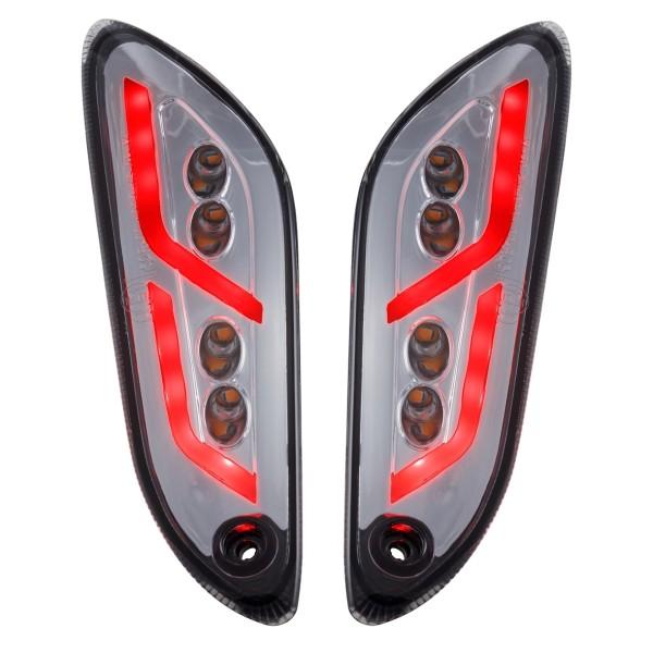 Blinker Kit hinten links / rechts LED getönt für Vespa Primavera / Sprint 50-150ccm SIP Style