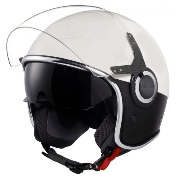 Vespa VJ Helm weiß / schwarz