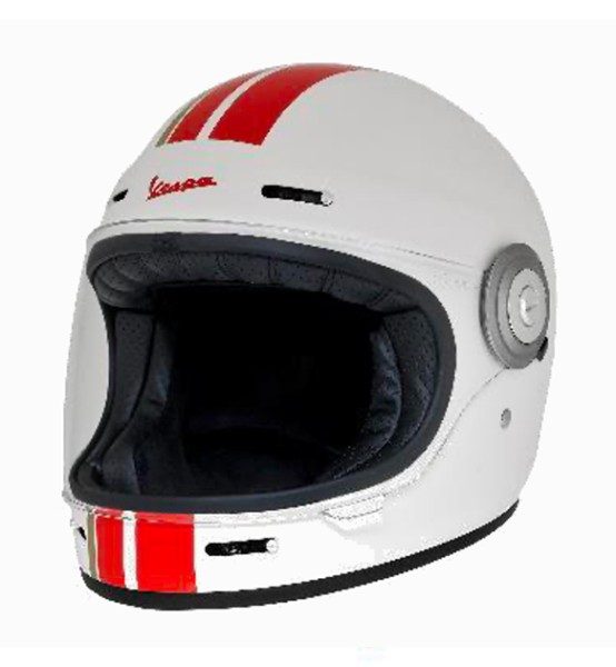 Vespa Integralhelm Racing Sixties 60s rot / weiß