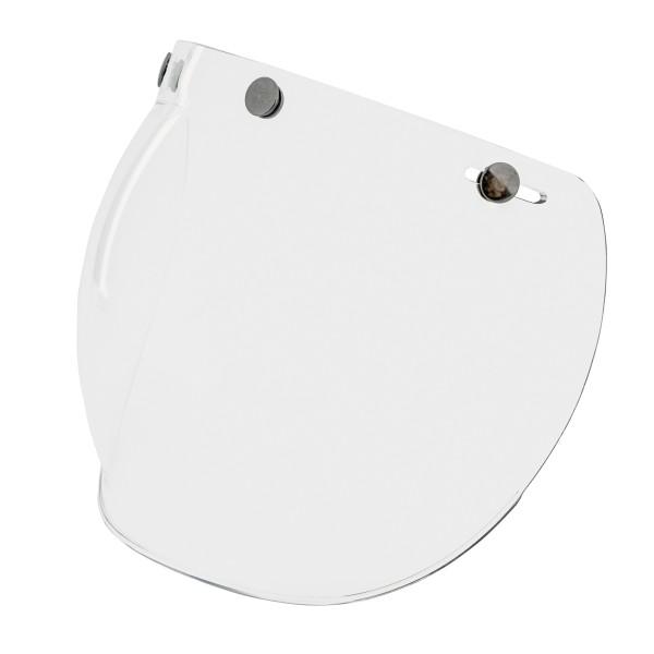 Bubble Visier (transparent) mit Drucknnöpfen für Vespa Jet Helme