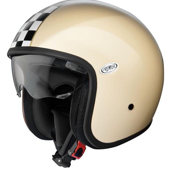 Premier Vintage Helm beige/schwarz-weiß