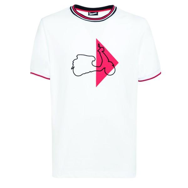 Vespa T-Shirt Modernist Herren weiss