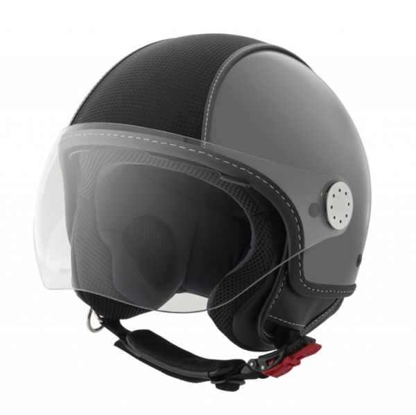Piaggio Demi Jet Helm, Carbonskin, grau