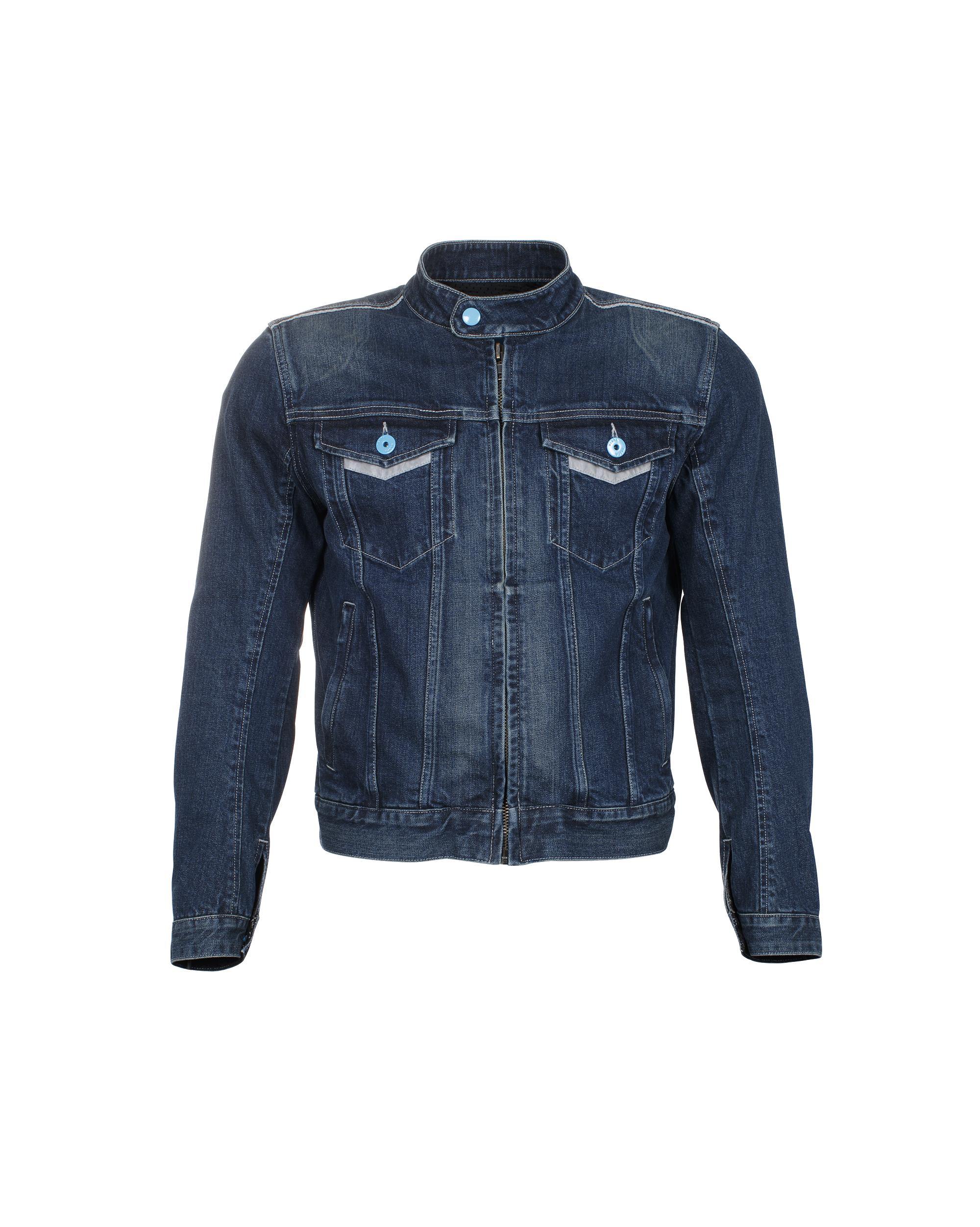 Vespa Jacke Denim Polyester Denim blau