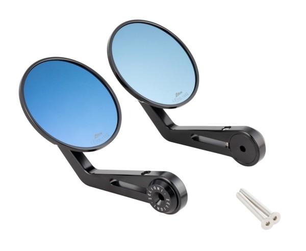 Lenkerendenspiegel ZELIONI für Vespa, rechts und links, schwarz eloxiert