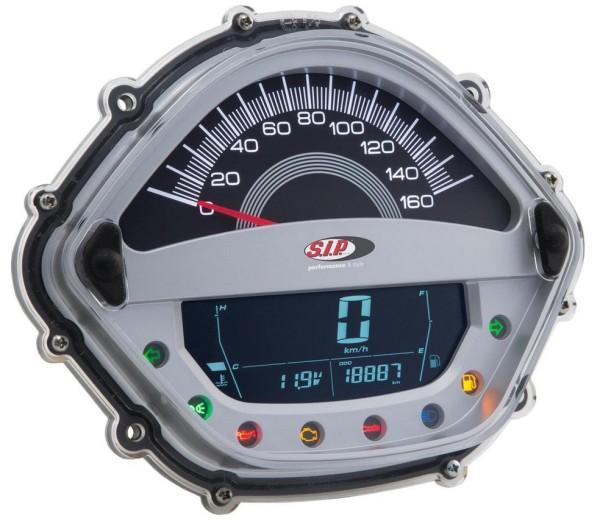 Drehzahlmesser/Tacho für Vespa GTS/GTS Super 125-300ccm ('14-'16), silber