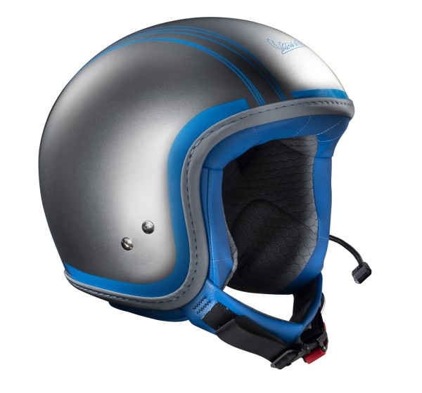 Vespa Jethelm Elettrica Tech blu (Bluetooth) silber