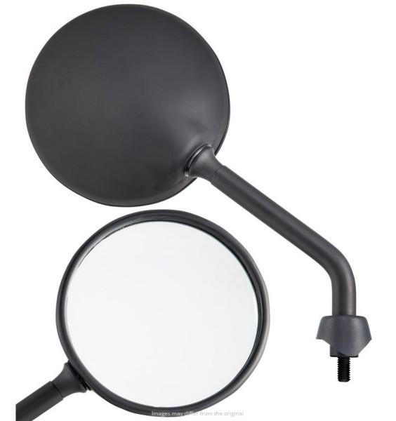 Spiegel Shorty für Vespa, schwarz matt, rechts und links
