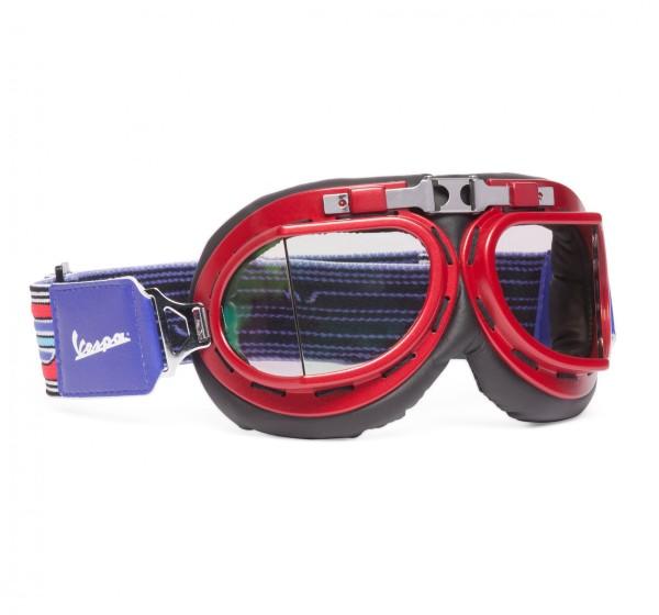 Original Vespa Fahrerbrille V-Stripes Vintage - Rot-Lila