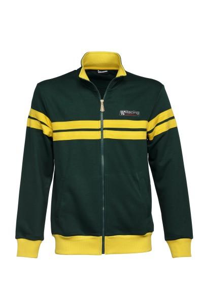Vespa Sweatshirt Jacke, Racing Sixties 60s grün / gelb