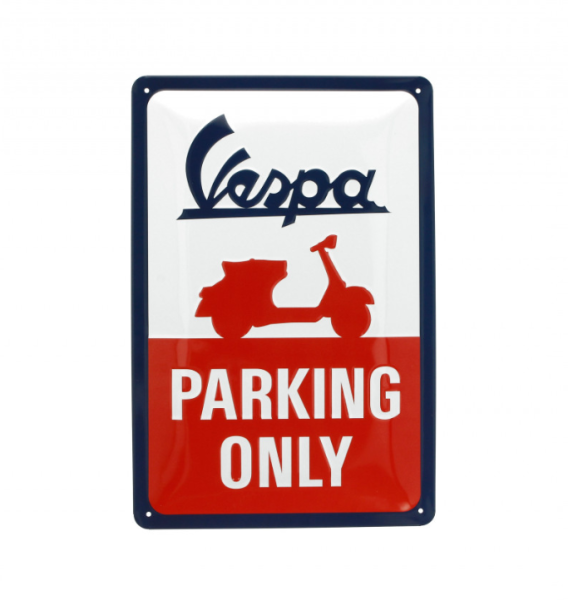 Vespa Metallschild Vespa parking only