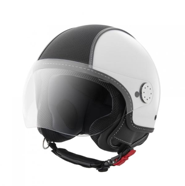 Piaggio Demi Jet Helm, Carbonskin, weiss