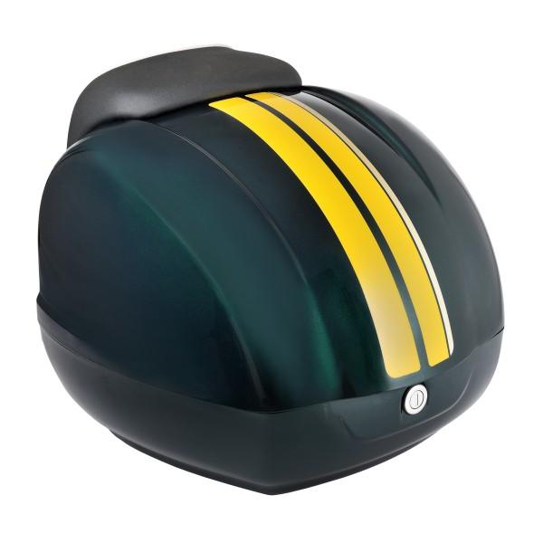 Dekorstreifen (Gelb) für Vespa GTS Racing Sixties Topcase grün, metallized green 349/A, 37 l