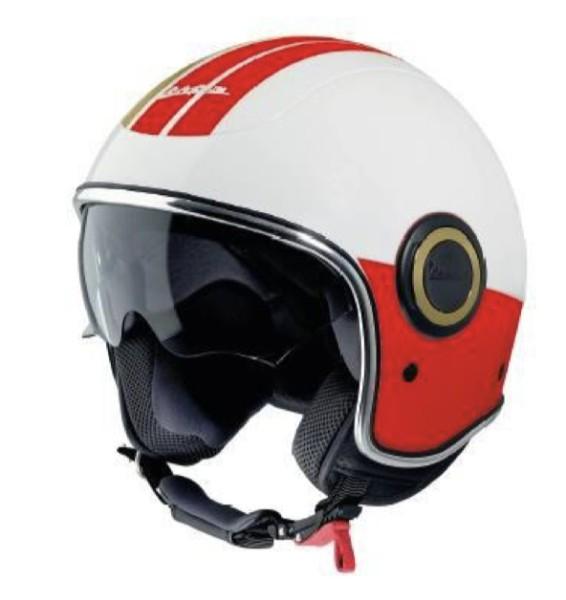 Vespa Jethelm VJ Racing 60s weiß / rot - Sixties