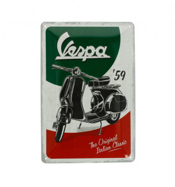 Vespa Metallschild Vespa Italian Classic