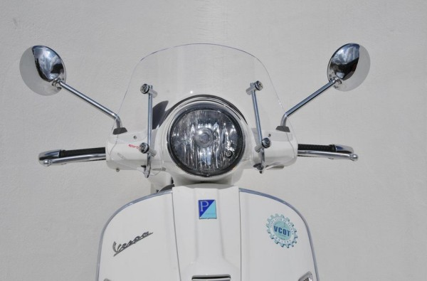 Flyscreen Piccolo für Vespa GTS/GTS Super/GT/GT L 125-300ccm, klar