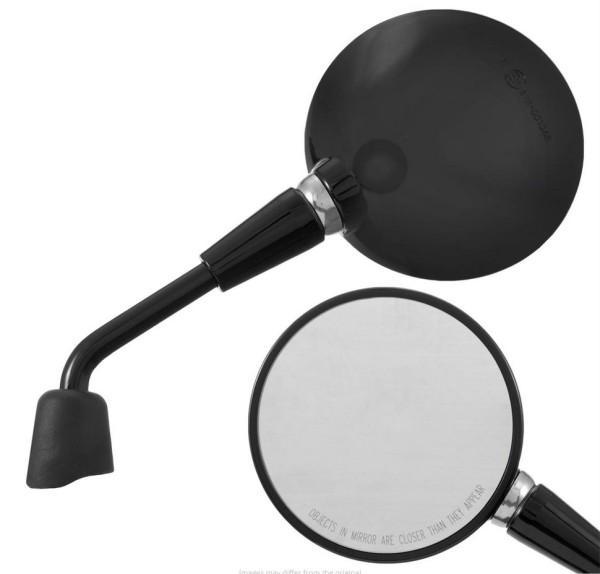 Spiegel Shorty, schwarz glänzend, rechts und links für Vespa Primavera / GTS HPE