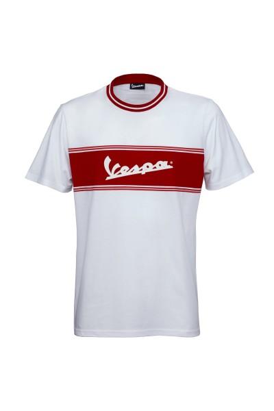 Vespa T-Shirt Racing Sixties 60s weiss / rot