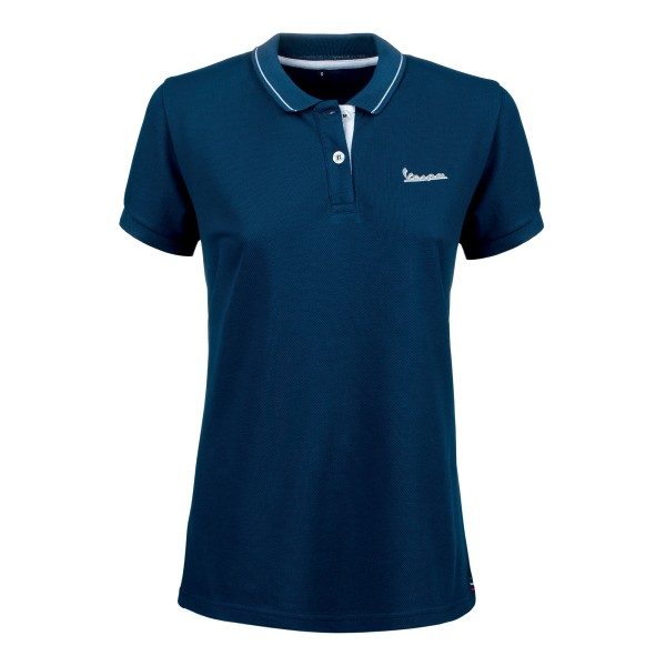 Vespa Polo Shirt Graphic Damen blau