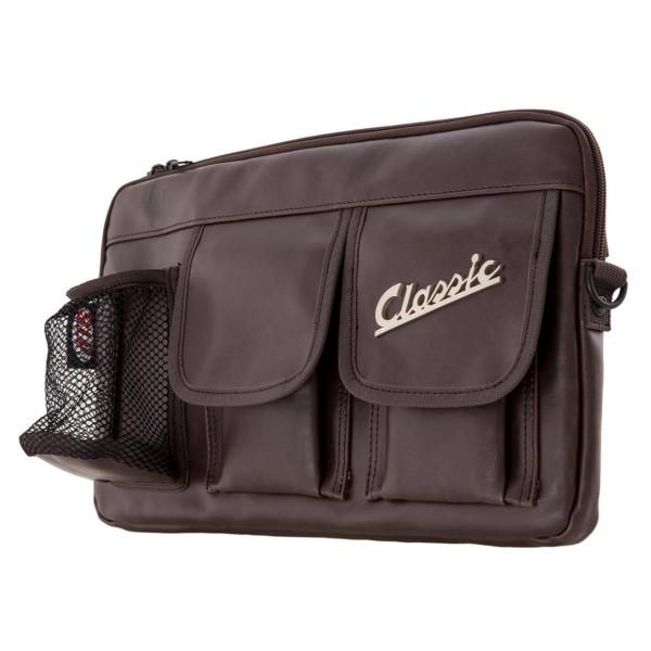"""Tasche """"Classic"""" für Gepäckfach/Handschuhfach Vespa - braun, Kunstleder"""