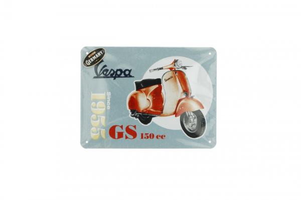 Vespa Metallschild Vespa GS150 since 1955