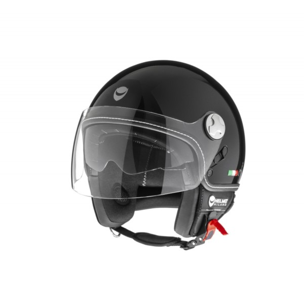 Helmo Milano Demi Jet, Eos, schwarz glänzend