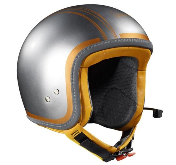 Vespa Jethelm Elettrica Tech blu (Bluetooth) silber orange
