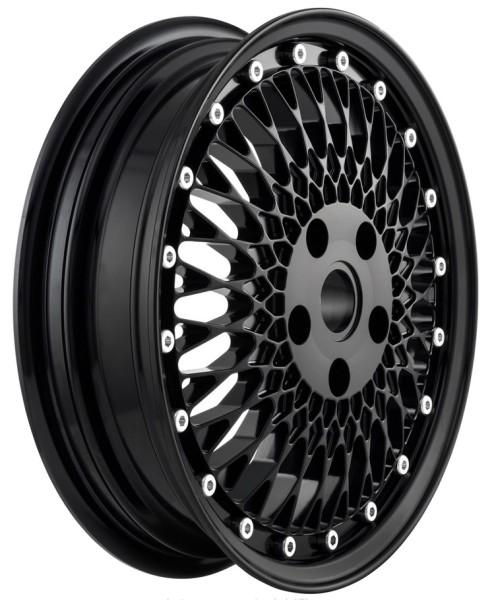 Felge Comb 1 vorne/hinten für Vespa GTS/GTS Super/GTV/GT/946 125-300ccm, schwarz glänzend