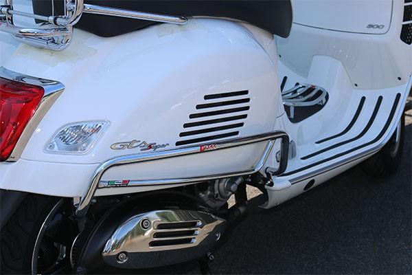 Sturzbügel Seitenhaube hinten für Vespa GTS 300ccm HPE ('19-), chrom