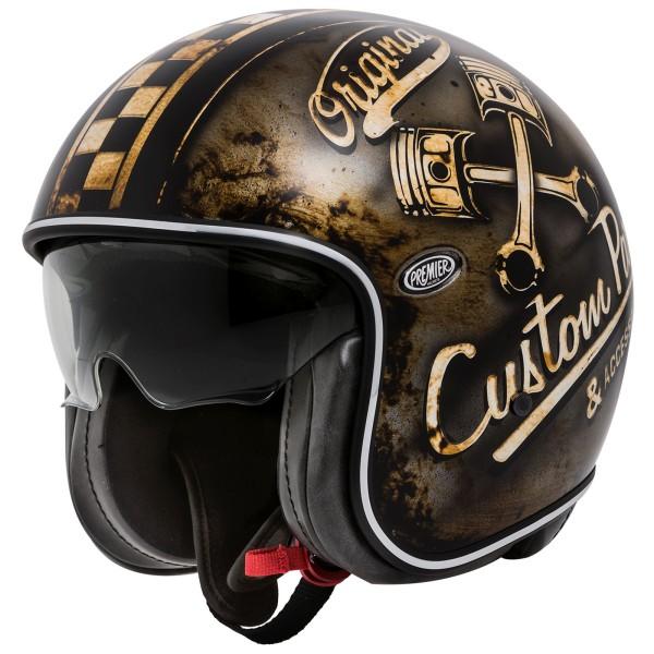 Premier Vintage Helm matt-bronze/beige