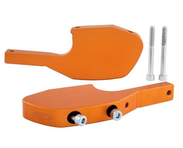 Fußrastenadapter Sozius für Vespa GTS/GTS Super/GTV/GT 60/GT/GT L 125-300ccm, orange matt