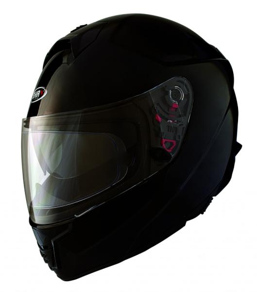 Shiro Integralhelm, SH351, Fiber, schwarz matt