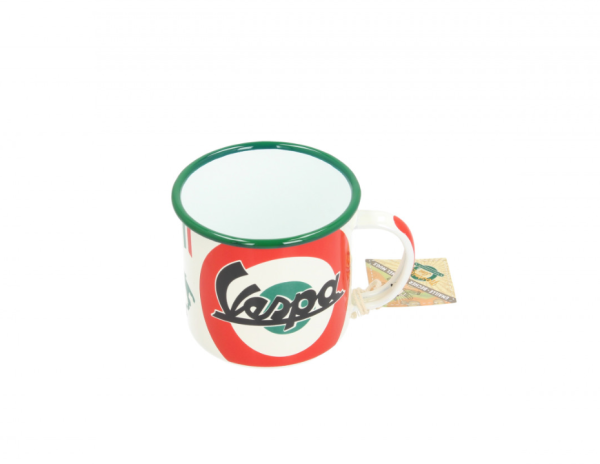 Vespa Becher The Italian Classic, Emaille