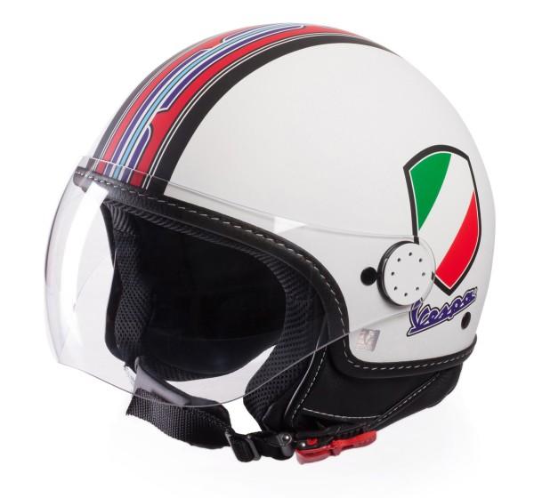 Vespa Jethelm V-Stripes, weiß