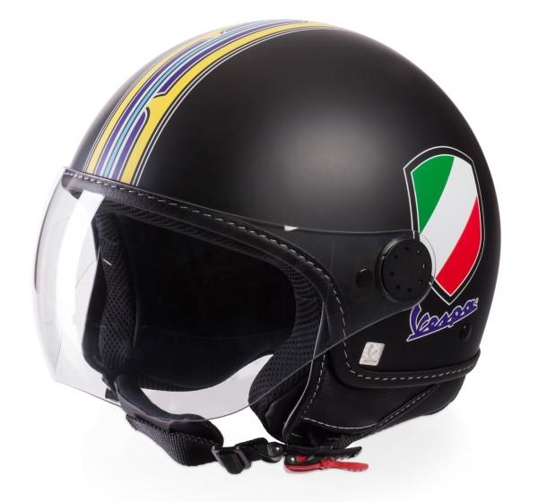 Vespa Jethelm V-Stripes, schwarz