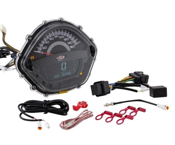 Drehzahlmesser/Tacho für Vespa GTS 250ccm (-'13), carbon-look