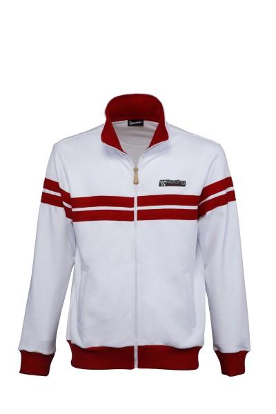 Vespa Sweatshirt Jacke Racing Sixties 60s weiss / rot