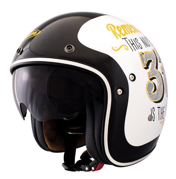 Shiro Jethelm, SH235, Number 37, schwarz, weiß, gold