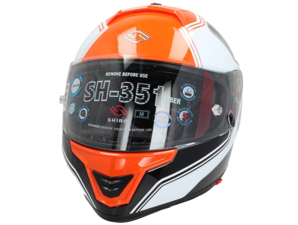Shiro Integralhelm, SH351, Fiber, F4, orange