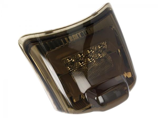 LED Rücklicht schwarz, E-geprüft für Vespa GTS / GTV (bis 2014)