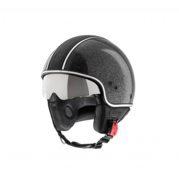 Helmo Milano Demi Jet, Puro Stile Limited, schwarz glänzend, glitter