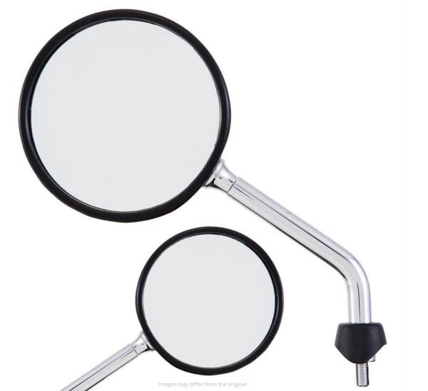 Spiegel Shorty für Vespa, chrom, rechts und links